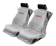 Seat Armour 2 Piece Front Car Seat Covers For GMC - Grey Terry Cloth