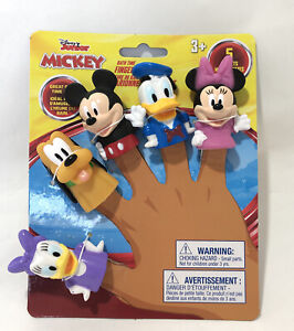 Mickey Mouse Clubhouse Bath Time Finger Puppets Mickey Minnie Daisy Donald Pluto