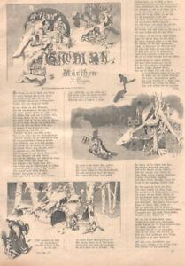 Weihnachten.Gnom,Zwerg,Wichtel.Illustr. Märchen von Johann Trojan Holzstich 1892