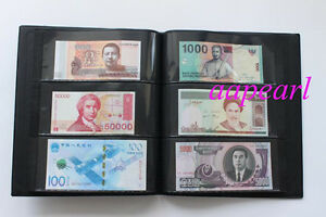 120 Pockets Album 20 Pages Double Sided Holders Banknotes Book Random Color
