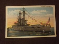 U.S. BATTLESHIP FLORIDA Vintage 1920's POSTCARD - UNUSED
