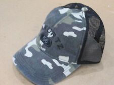 "A. KURTZ Arc Trucker Camo Baseball Cap Cotton Front Mesh Back Fitted ""Black"""