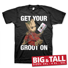 Officially Licensed Get Your Groot On BIG & TALL 3XL, 4XL, 5XL Men T-Shirt