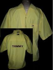 TOMMY HILFIGHER Mens Short Sleeve Button Front Shirt Size Medium Yellow