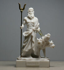 Hades Pluto Greek God of Underworld & Cerberus Handmade Statue Figurine 5.1΄΄