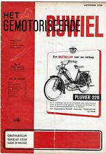 Het gemotoriseerde rijwiel  11-1956 - Dutch moped magazin - Kaptein Mobylette