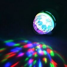 E27 3W RGB LED Crystal Stage Rotating Color Light Bulb Lamp For Party Disco Bar