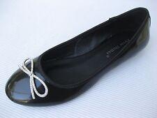Pierre Dumas Womens Shoes NEW $42 Nizza Black Patent Ballet Flat 9 M