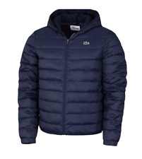 Lacoste Sport Hooded Water-Resistant Quilted Jacket in Navy - BH1531-00