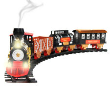 Christmas Train Toy Classic Holiday 20 Piece Set Lights, Sound, and Real Smoke
