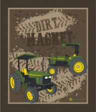 John Deere Dirt Magnet Quilt top Wall Hanging Panel Fabric Springs Cotton