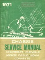 CHEVROLET 1971 SHOP MANUAL SERVICE REPAIR BOOK
