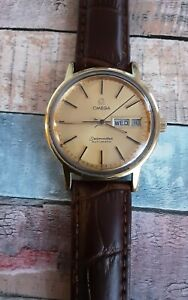 Vintage Omega Seamaster Automatic Watch 17 Jewels Day Date Cal. 1022 Swiss Made