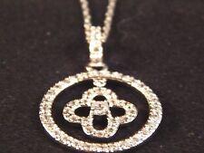 Elegant CZ Pendant Sterling Silver Necklace