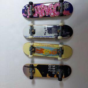 2000 Tech Deck Zoo York Fingerboard Skateboards Lot of 4 X-Concepts