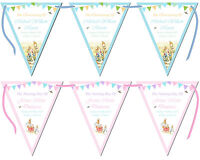 Personalised Bunting Beatrix Potter Peter Rabbit Christening Baptism Birthday