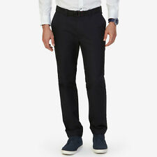 NWT NAUTICA Men Black Marina Slim Fit Stretch Flat Front Pants Size 36x30