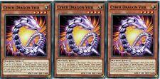 Cyber Dragon Vier - 3 Card Playset - Common - *Zane* - Yugioh CYHO
