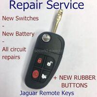 Jaguar key fix REPAIR for X S Type XJ6 XJ8 XJR XK8 XKR remote key + new pad
