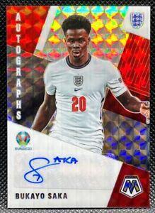 2020-21 Panini Mosaic Euro =Bukayo Saka= Autographs Auto #AM-BS England READ!