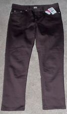Women's NEW Jean Summer Capri, Small 6-8, by Fresh Produce, Brown, 5 pocket