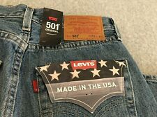 NWT Levis 501 Made In USA Premium Jeans Mens 28x32
