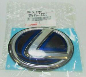 "Genuine Hybrid Lexus ""L"" Rear Trunk Symbol Emblem Blue 90975-02228 OEM"