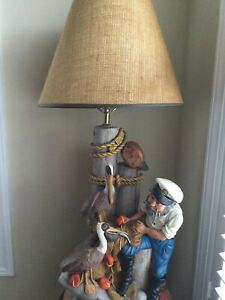 Vintage Apsit Bros Of Calif Lamp Nautical - Extremely Rare - Excellent Condition