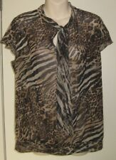 Now Brand Size 14 Animal Print Top with a Tie at Neck