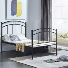 "83""x42""x35"" Twin Size Metal Bed Frame Platform  Bedroom Home Furniture New Black"