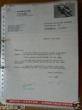 HT061-ORIGINAL AUTOGRAPH JEAN-PIERRE CLERC YAMAHA 125CC,SIGNATURE,AUTOGRAMM,