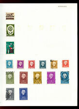 Netherlands Album Page Of Stamps #V5007