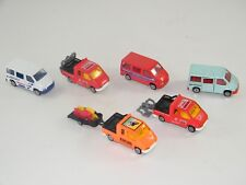 (6) MAJORETTE #243 FORD TRANSITS 1/60 RACING, TOWING, CITY BUS, VANS