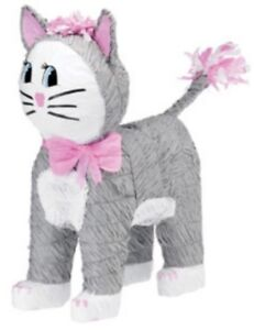 Gray Kitty Cat Pinata - Kids Birthday Party Supplies