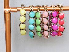 Jeweled Fashion Bracelet Multiple Colors Available Fashion Jewelry
