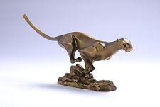 "14""Art Deco Sculpture Abstract Animal Leopard Resin Statue"