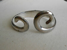 Taxco Sterling Silver Hinged Bangle Bracelet   175.06