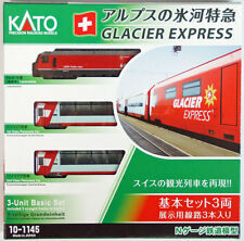 Kato 10-1145  Swiss Alps Glacier Express 3 cars (N scale)