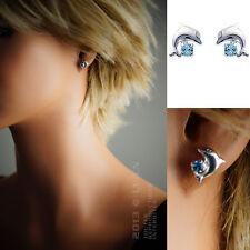 (Enfant) Boucles d'oreilles Dauphin en ARGENT CRISTAL -14231796- BigBang-Bijoux