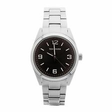 HONDA MENS WATCH DESIGN EXCLUSIVELY BY TOURNEAU STAINLESS STEEL BLACK DIAL 43MM