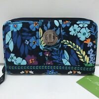 Vera Bradley Turn Lock Wallet in Midnight Blues NWT
