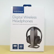 INSIGNIA Digital Wireless Headphones NS-HAWHP2 for TV Home Theater Gaming PC