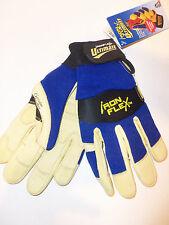 New - Steiner IronFlex Ultimate Leather Blue Work Gloves Washable - Size Medium
