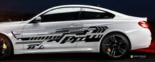 2x Design Future Grafik Seitenaufkleber 230cm Auto Aufkleber Tuning Folie Decal