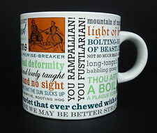 Shakespearean Insult Mug Unemployed Philosophers Guild Coffee Cup