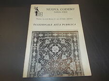 NUOVA CODEBò GALLERIA D'ARTE.ASTA PUBBLICA.TORINO 1972 BUONISSIMO!!