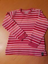 JAKO O Mädchen Langarm-Shirt Pullover, rot-pink gestreift, Größe 80/86, TOPP!