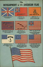Development of American Flag Linen Postcard