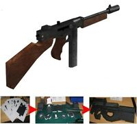 1/1 Scale Thompson Machine Gun Rifle WWII 3D Paper Model Puzzle Kit Cosplay DIY