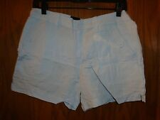 Calvin Klein Jeans Womens Sapphire Ice Linen Blend Casual Shorts Size: 6  NWT